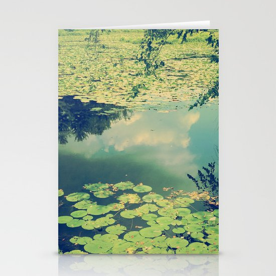 Lily Pad Pond Stationery Card