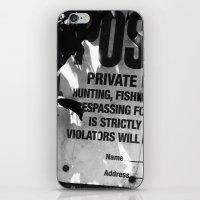 Trespassing iPhone & iPod Skin