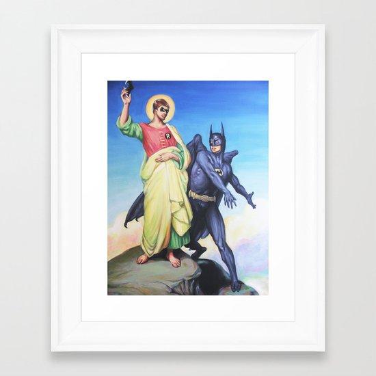 Temptation of Robin Framed Art Print