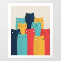 Art Print featuring Cats by Volkan Dalyan