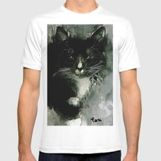 TUXEDO Mens Fitted Tee SMALL White