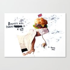 Burgery is a Sin Canvas Print