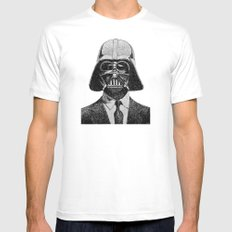 Darth Vader portrait Mens Fitted Tee SMALL White