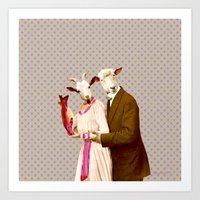 Mr & Ms Sheep Art Print