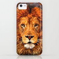 iPhone 5c Cases featuring Old Lion Digital Art painting iPhone 4 4s 5 5c 6, pillow case, mugs and tshirt by Three Second