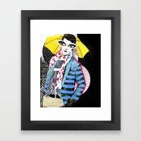 ::Man in the Rain:: Framed Art Print