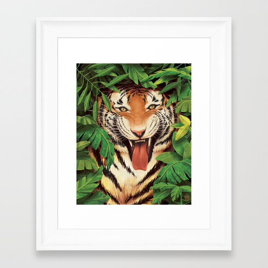 Guardian of the Jungle Framed Art Print