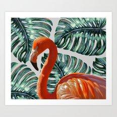 Flamingo Self Portrait #society6 #decor #buyart Art Print