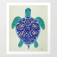 Art Print featuring Sea Turtle by Cat Coquillette