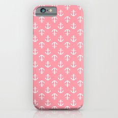 Pink Anchors Pattern Slim Case iPhone 6s
