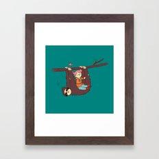 Sloth Swing Framed Art Print