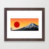 Rising Sun On Fuji Framed Art Print