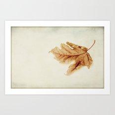 a simple leaf Art Print