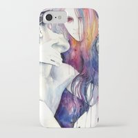 hair iPhone & iPod Cases featuring wakeful by agnes-cecile