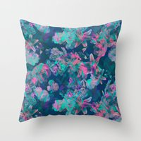 Geometric Floral Throw Pillow