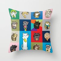 Lucky Cats - LOLcats Throw Pillow