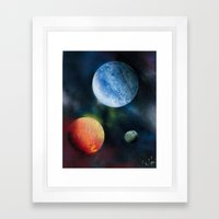 Celestial Triad Framed Art Print