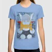 God Of Thunder Grunge Su… Womens Fitted Tee Tri-Blue SMALL