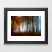 Abstract Autumn Forest Framed Art Print