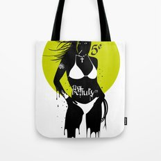 She wants to dance - Green Yellow version. Tote Bag