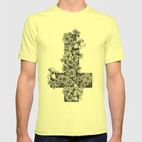 Dusk/Dawn Mens Fitted Tee Lemon SMALL