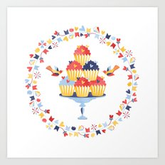 Muffins Art Print