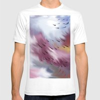 Tears And Clouds Mens Fitted Tee White SMALL