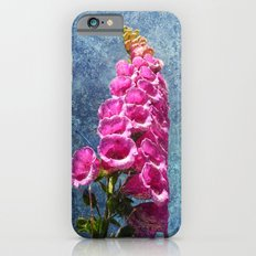 Foxglove with texture reaching for the sky. iPhone 6 Slim Case