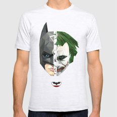 BATMAN Mens Fitted Tee Ash Grey SMALL