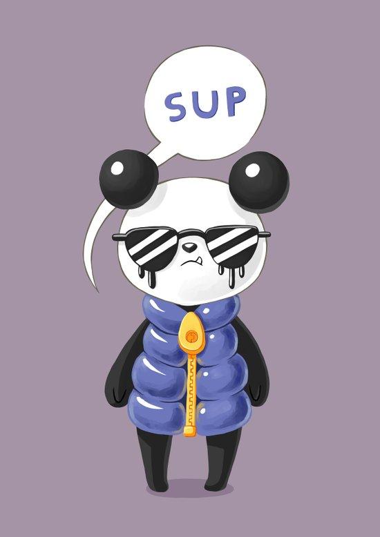 Sup Panda Art Print