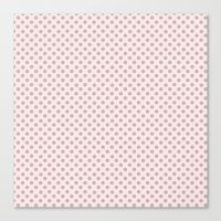 Taupe Polka Dots on Pink Canvas Print