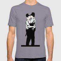 Kissing Coppers Mens Fitted Tee Slate SMALL
