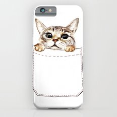 Pocket cat iPhone 6 Slim Case