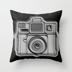 I Still Shoot Film Holga Logo - Black Throw Pillow