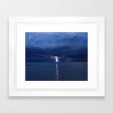 Lightning on the Myakka DPG160601a Framed Art Print