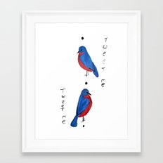 Tweet Me Framed Art Print