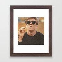 The Nerd Framed Art Print