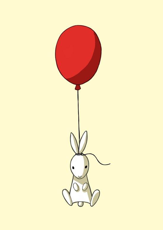 Balloon Bunny Art Print