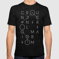 Ground Control Mens Fitted Tee Tri-Black SMALL