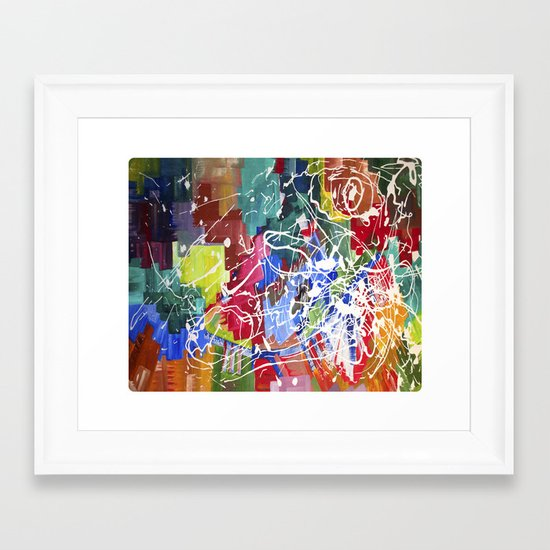 Color Collision Framed Art Print