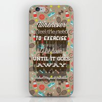 Exercising... iPhone & iPod Skin