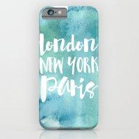 London, New York, Paris … iPhone 6 Slim Case