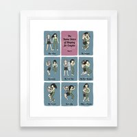 The Kama Sutra of Sleeping for Couples Part 2 Framed Art Print