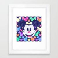 Mickey Mouse Head On Arr… Framed Art Print