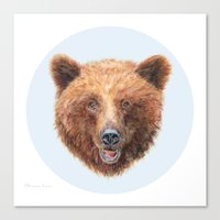Brown Bear Portrait Canvas Print