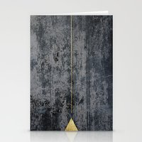 gOld triangle Stationery Cards