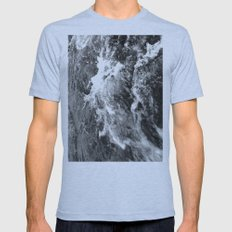 Capricious White Water Mens Fitted Tee Athletic Blue SMALL