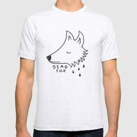 Dead Fox Mens Fitted Tee Ash Grey SMALL