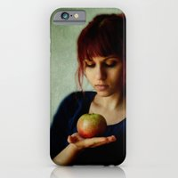 iPhone & iPod Case featuring the girl with the apple by The Last Sparrow