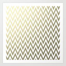 Gold Foil Chevron Art Print